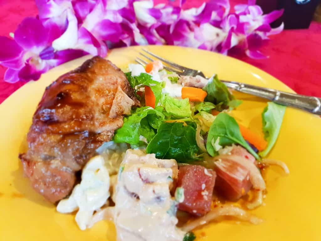 luau food at polynesian cultural center