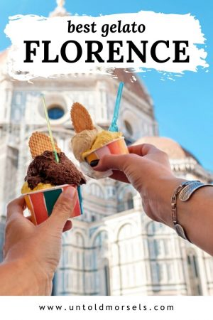 Florence Italy - food tips - where to find the best gelato in Florence