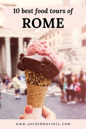 Rome food tour - discover the best pizza, pasta and gelato as you walk through the city's iconic sights